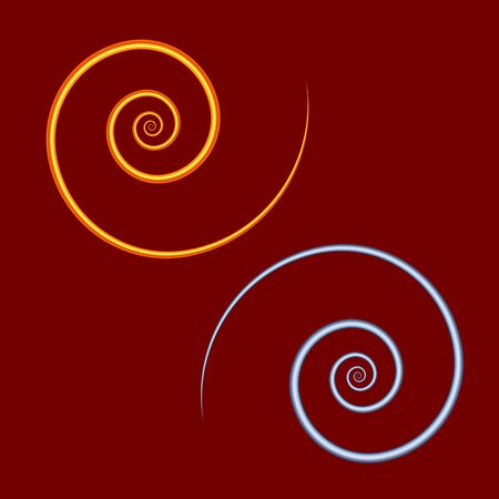 Golden wire spiral. Design element. For the design of banners, cards and sites, for frames. Vector.