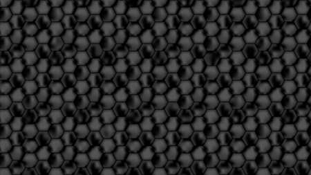Seamless background from black honeycombs. Background  from dark repeating hexagons for banner design. Vector illustration. Illustration