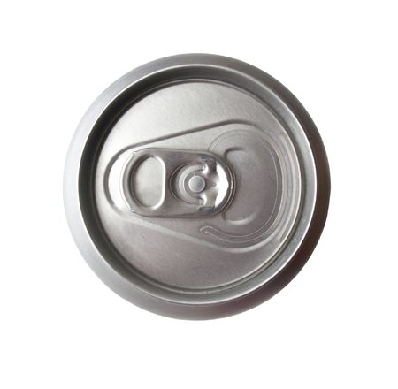 aluminium can: Closed aluminium can on white backround