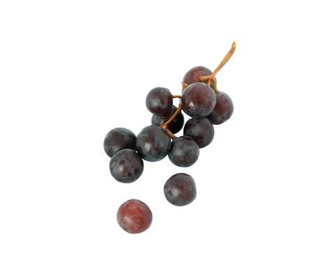 Small bunch of grapes isolated on white background  photo