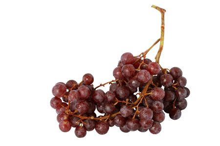 Big bunch of grapes isolated on white background  photo