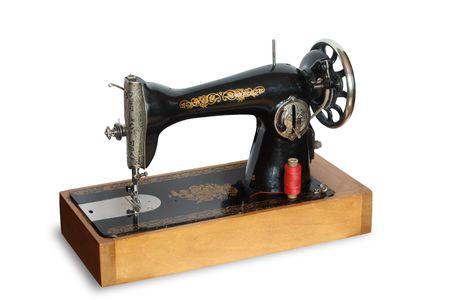 n hmaschine: Vintage N�hmaschine isoliert auf wei�em Hintergrund