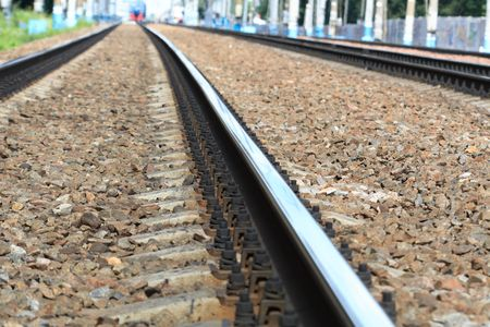 diminishing perspective: Diminishing perspective with railroad track vanishing into the distance