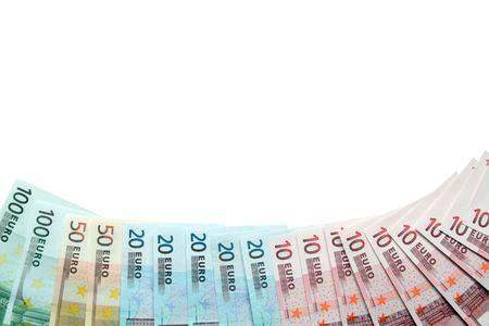european union currency: Frontera hecha de billetes de la moneda de la Uni�n Europea