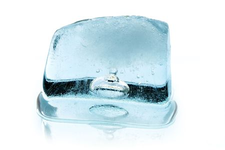 reverberation: Ice cube with reverberation.  Stock Photo