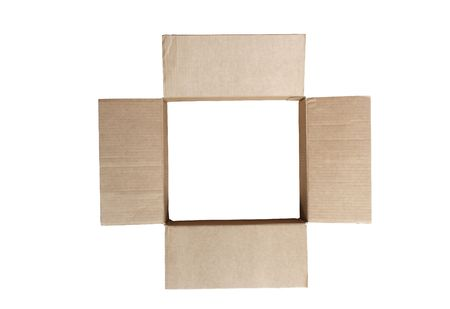 Open empty cardboard box without bottom Stock Photo - 7551998