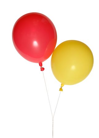 Red and yellow balloons  photo