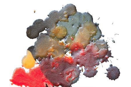 multy: Motley wax drops background Stock Photo