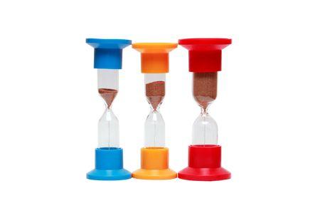 multy: Three motley hourglasses