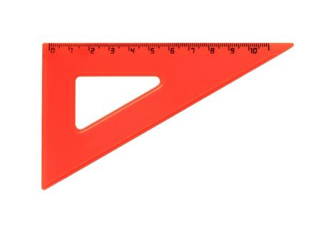 metric: Red metric plastic triangle