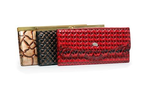 change purses: Three nice leather change purses on white background.