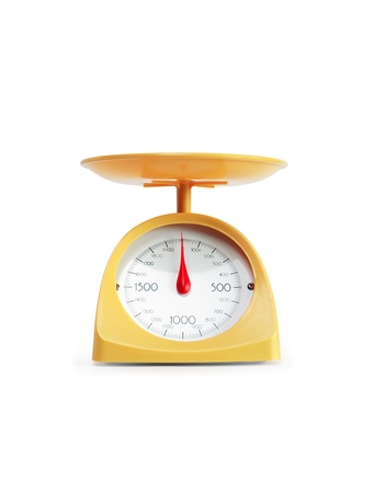 Modern yellow kitchen scale Stock Photo