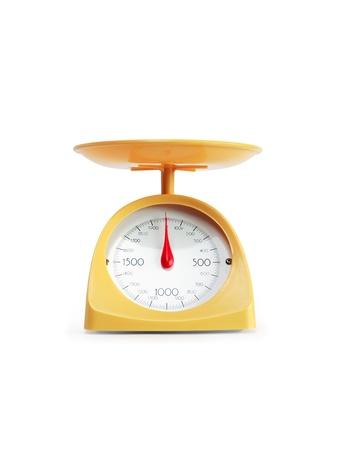Moderne gelbe Küchenwaage Standard-Bild
