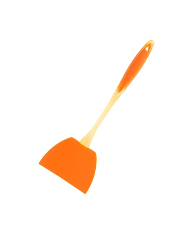 slotted: Modern silicone slotted turner isolated on white background. Clipping path is included