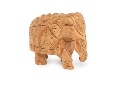 Wooden miniature elephant  photo