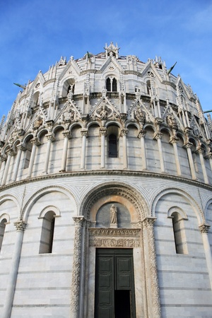 miracle square: Closeup of Pisa Baptistery at the Miracle Square. Italy