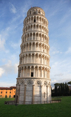 The Leaning Tower of Pisa at the Miracle Square. Italy