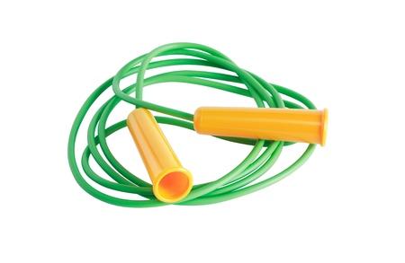 saltar la cuerda: Saltar la cuerda verde con asas amarillas
