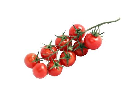 Tomates maduros aislados en fondo blanco con trazado de recorte Foto de archivo - 19847276