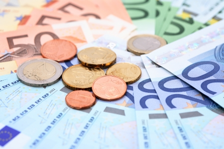 european union currency: Uni�n Europea Fondo de portarretrato moneda
