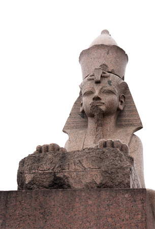 Ancient Eguptian sphinx statue photo