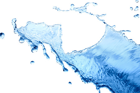 to watersplash: Abstract watersplash background isolated on white with clipping path