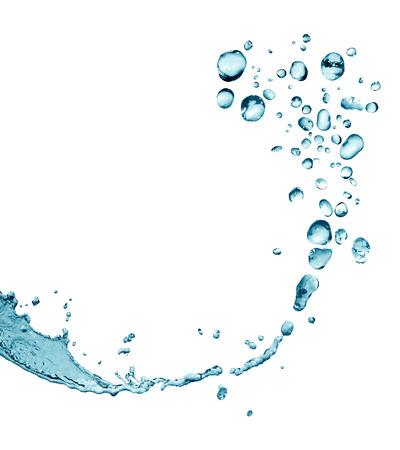 Spritzer auf weiß. Abstrakt water mit Tropfen als Rahmen Standard-Bild