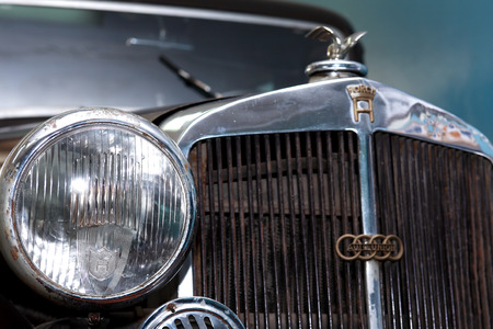 bl: TECHNICAL MUSEUM, CHERNOGOLOVKA, RUSSIA - MARCH 15, 2015: Closeup of famous German car Horch 830 BL Pulman Limousine