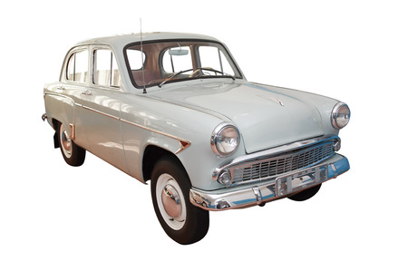 motorcar: Retro 1950-1960 motor-car isolated on white background with clipping path