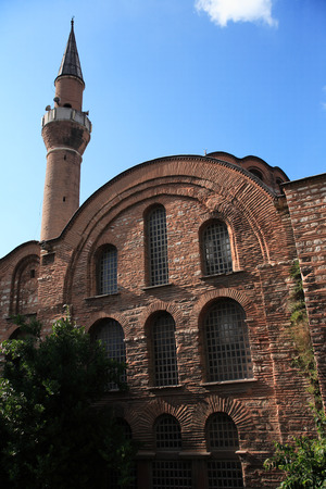 byzantium: Mosque named Kalenderhane, ancient Byzantium church Kiriotissa, Istanbul, Turkey Stock Photo