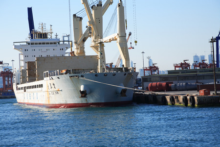 nautical   vessel: Istanbul, Turkey - July 7, 2015: Closeup of nautical vessel shipment in harbour Editorial