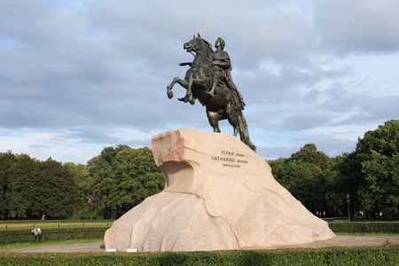 peter the great: Peter The Great on horse statue in  St. Petersburg, Russia Stock Photo