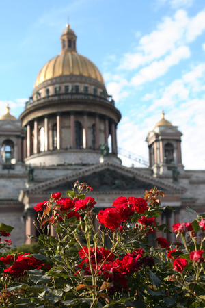 isaac: View of Saint Isaac Cathedral in St. Petersburg, Russia Stock Photo