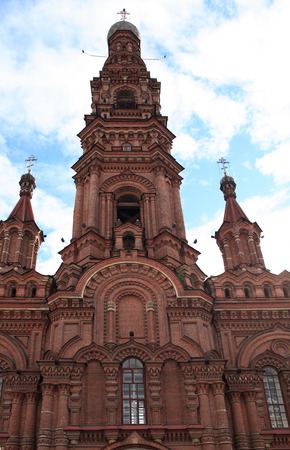 made russia: Nice old belfry made from red brick in Kazan city, Russia
