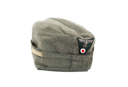 swastika: World War II German military garrison cap for soldiers