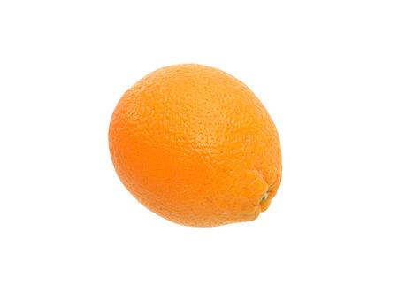 freshness: Una naranja frescura en el fondo blanco. Foto de archivo