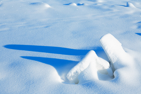 drifting ice: Winter landscape with ice on frozen river Stock Photo