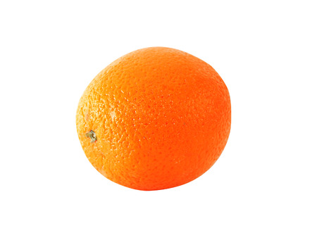 the freshness: One freshness orange isolated on white background Stock Photo