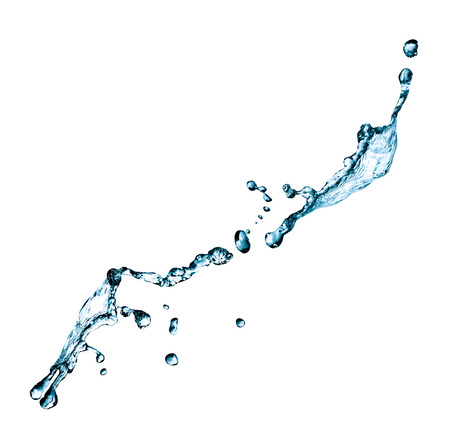 Nice abstract water splash with drops on white background Stock Photo