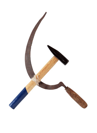 Famous Communistic symbol. The hammer and sickle.