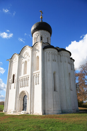 The Church of the intercession on the Nerl, Russia Stock Photo