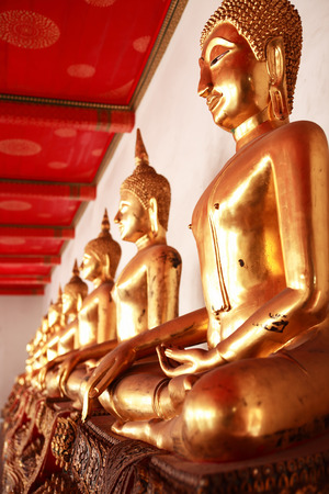 Temple of the Reclining Buddha Wat Pho in Bangkok, Thailand