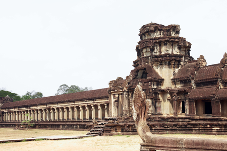 The ruins of Angkor Wat Temple in Cambodia Editorial