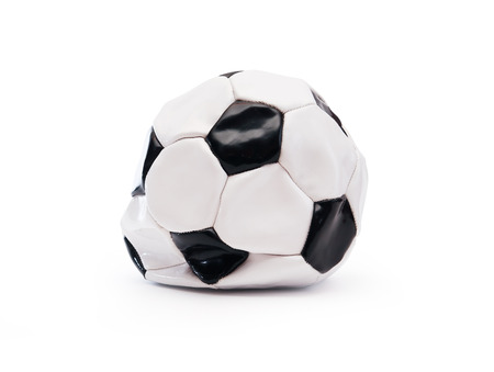 Blown Out The Ball Against White Background.