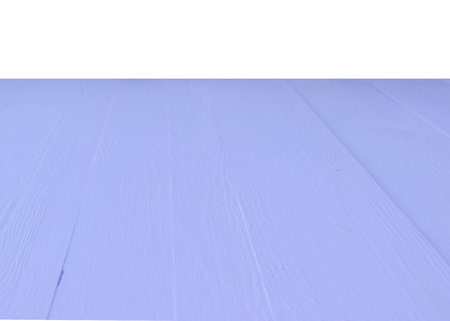 The surface of the wooden lilac table isolated on a white background. Blank for design.