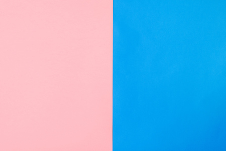 Background of vertically arranged sheets of pink and blue paper. Flat style. Fashionable color.