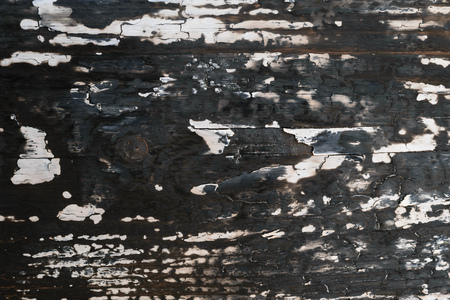 Background of wooden Board burned with a gas burner. Wallpaper in the form of a tree texture.