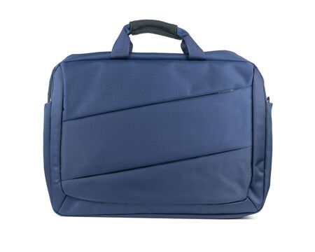 Blue waterproof laptop bag isolated on a white background. Accessory for your laptop. Stockfoto