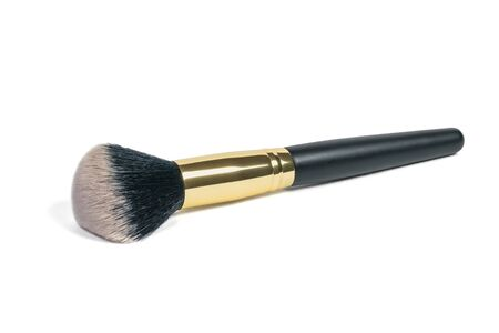 Soft makeup brush isolated on white background. Brush for applying powder.