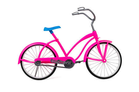 Toy walking bike isolated on a white background. Eco-friendly mode of transport.